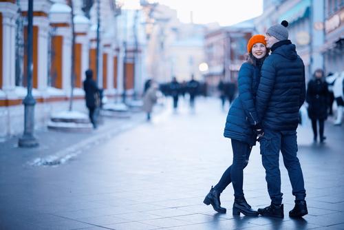 Young Couple Having Fun in Winter