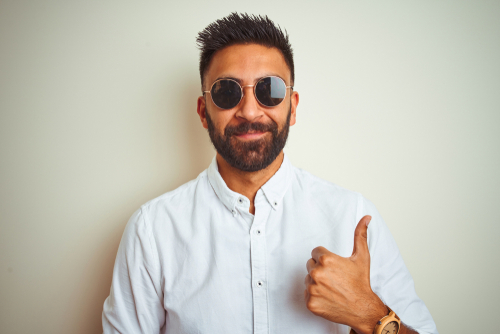 Thumbs Up and sunglasses